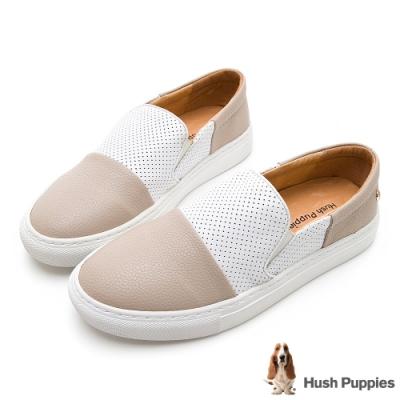 Hush Puppies Intell 女撞色直套便鞋-淺杏色