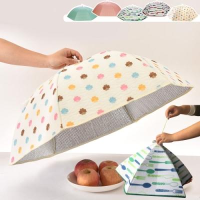 EZlife 大容量食物衛生保溫菜罩(2入)贈餐盤托架