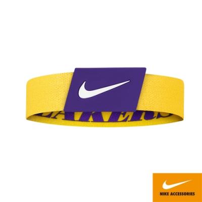 NIKE NBA BALLER 手環 湖人 運動 湖人  黃紫 N1000539760