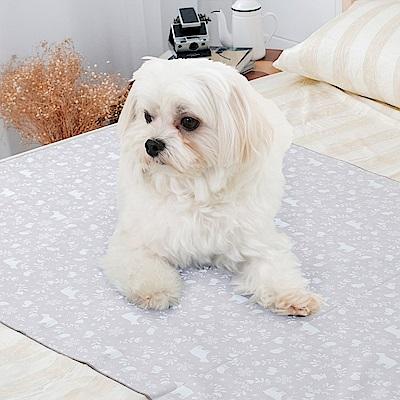 米夢家居-台灣製造-全方位超防水止滑保潔墊/寵物墊75x90cm-北極熊