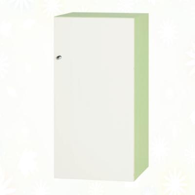文創集 歷克 環保1.3尺南亞塑鋼單開門二格置物櫃/收納櫃-40.4x41.5x80.8cm免組