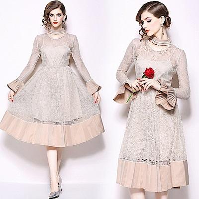 英式宮廷風浪漫網紗洋裝S-2XL-M2M