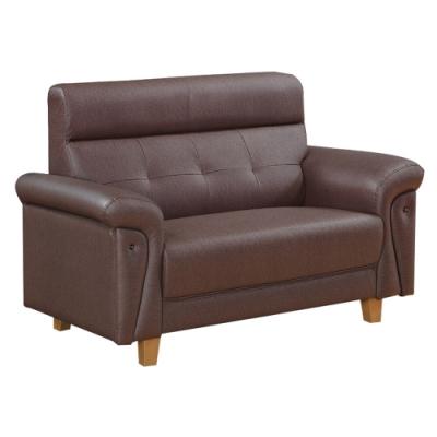 綠活居 瑟德時尚咖貓抓皮革二人座沙發椅-144x86x105cm免組