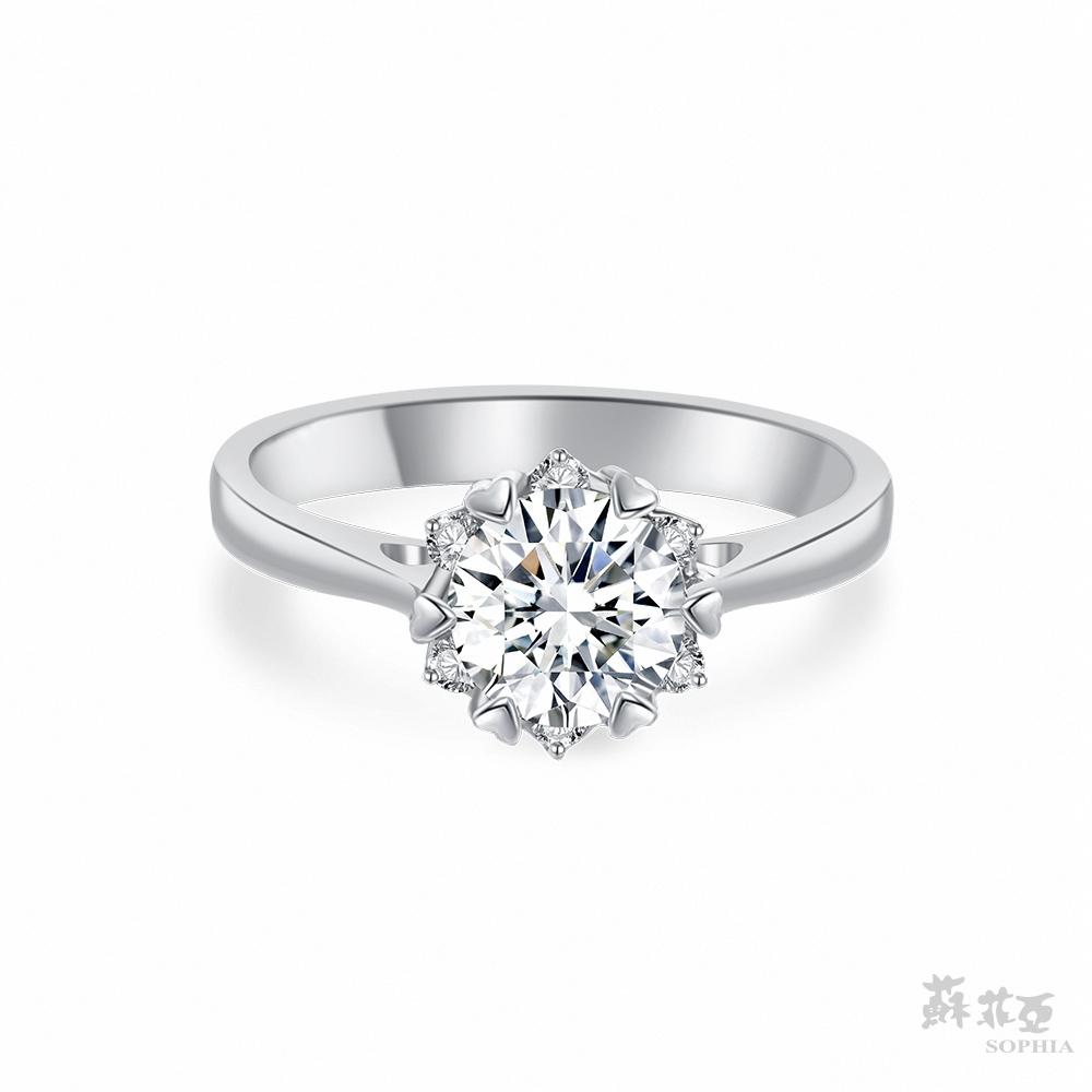 SOPHIA 蘇菲亞珠寶 - 費洛拉 1.00克拉 18K白金 鑽石戒指