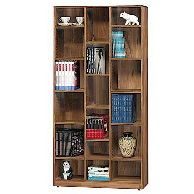 綠活居 尼達可3尺木紋開放式書櫃/收納櫃(二色)-90.5x30x182cm-免組