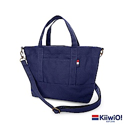 Kiiwi O! 輕便隨行系列2way帆布托特包 ANNIE 藍