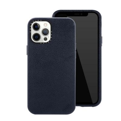 Casetify iPhone 12 Pro Max 純素皮革保護殼-海軍藍