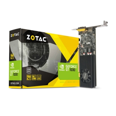 ZOTAC索泰 GeForce GT 1030 2GB GDDR5 Low Profile 顯示卡