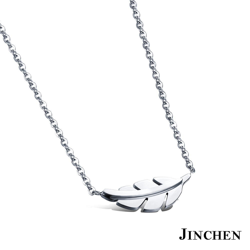JINCHEN 白鋼葉子項鍊 product image 1