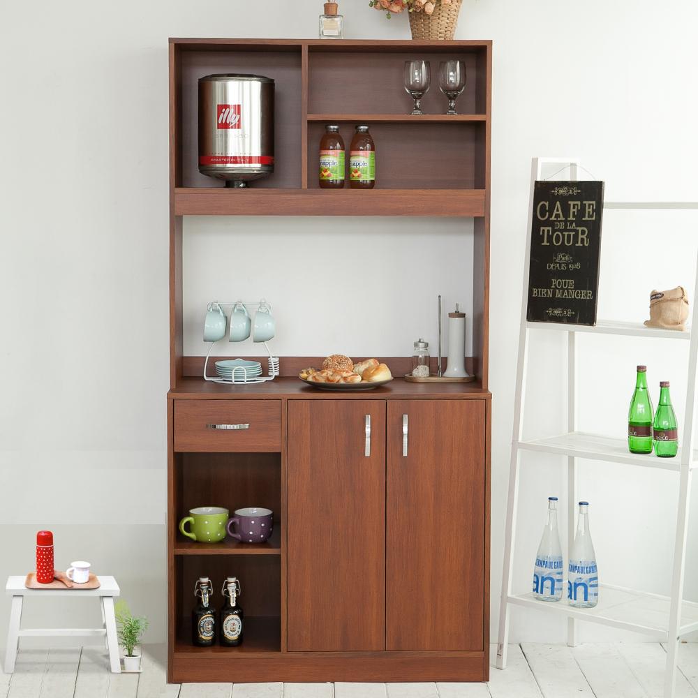 澄境 幸福語言居家收納廚房櫃/電器櫃/櫥櫃90X40X180cm-DIY