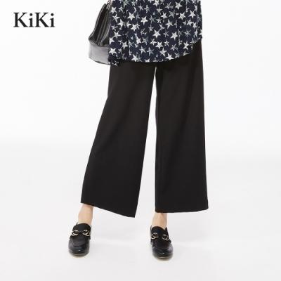 新降【KiKi】上班族必備簡約素面-長褲(二色)