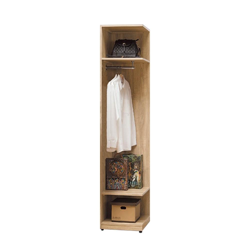 柏蒂家居-瑞莎1.5尺多功能轉角衣櫃/開放式牆角衣櫃-45x45x197cm