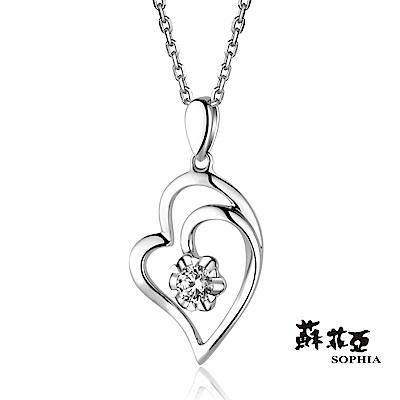 蘇菲亞SOPHIA - 愛戀心鑽0.24克拉FVS2八心八箭鑽鍊