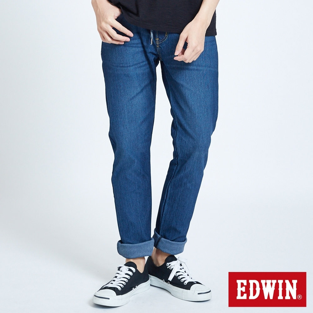 EDWIN JERSEYS 迦績窄直筒牛仔褲-男-拔洗藍