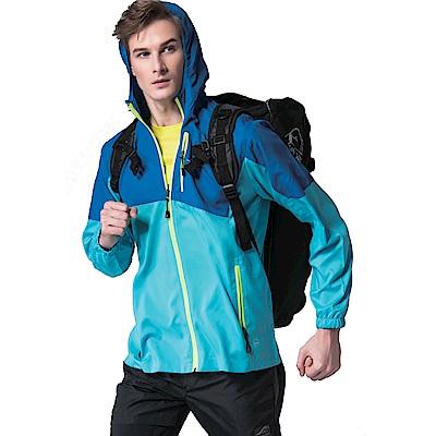 聖手牌 外套 丈青雙色防曬輕薄運動休閒連帽外套