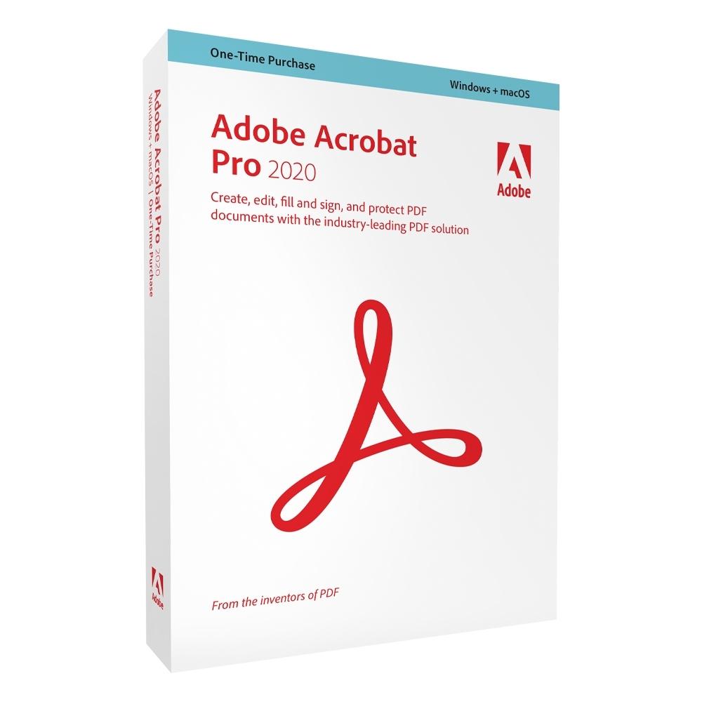 【超值5入組】Adobe Acrobat Pro 2020 中文商業盒裝完整版 (Windows / macOS 永久授權版)