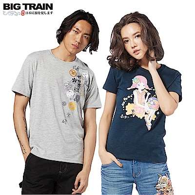 [時時樂限定]BIG TRAIN 經典日系圖騰短T-男女款(8款選)