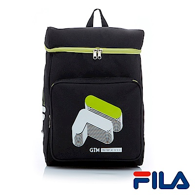 FILA x GTM 聯名款大LOGO後背包-潮流黑