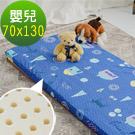 【米夢家居】 夢想家園-冬夏兩用馬來西亞進口100%天然乳膠嬰兒床墊-深夢藍70X130