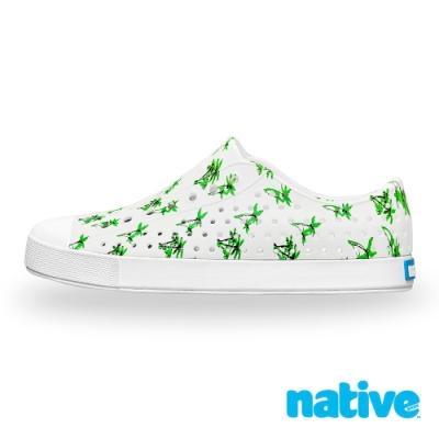 native JEFFERSON 男/女鞋-貝殼白x棕梠樹