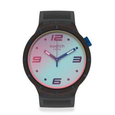 Swatch BIG BOLD系列手錶 FUTURISTIC GREY 未來主義灰-47mm