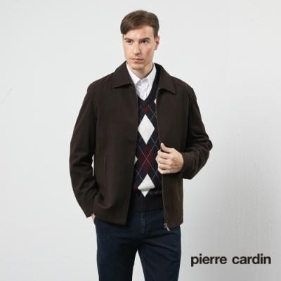 Pierre Cardin皮爾卡登 男裝 進進口羊絨翻領夾克外套-咖啡色(5115702-89)