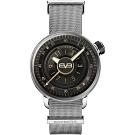 BOMBERG 炸彈錶 BB-01 全鋼灰面米蘭帶手錶