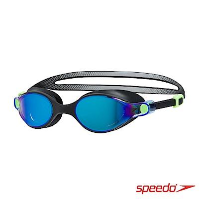 SPEEDO 成人運動鏡面泳鏡 V-class 黑/藍