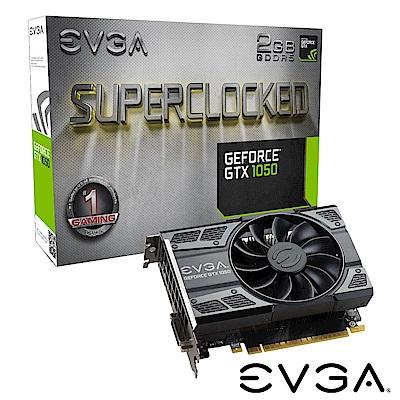 艾維克EVGA GTX1050 2GB SC GAMING ACX2.0 PCI-E圖形卡