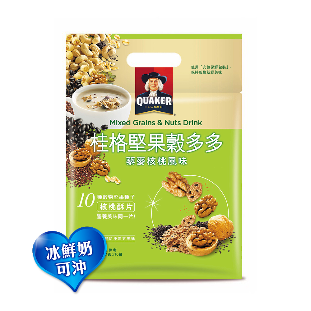 桂格 堅果穀多多系列-藜麥核桃風味(10入/袋)