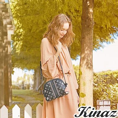KINAZ 戀人小徑斜背貝殼包-銀杏系列