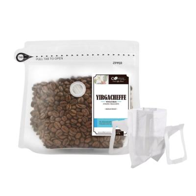 CoFeel 凱飛鮮烘豆耶加雪夫中烘焙咖啡豆半磅+濾掛咖啡袋20入食品級濾紙