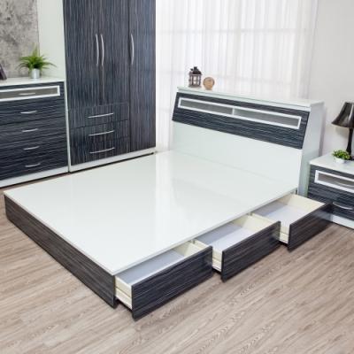 Birdie南亞塑鋼-3.5尺單人三抽屜收納塑鋼床底(不含床頭箱)(鐵刀木色)