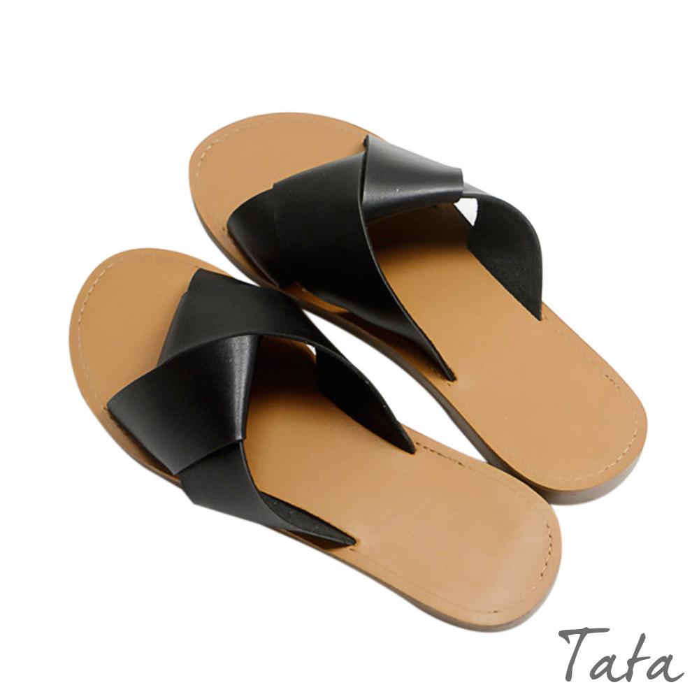 扭結休閒平底涼鞋 共二色 TATA