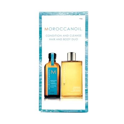 MOROCCANOIL 摩洛哥優油 經典沐浴組合 摩洛哥優油125ml 沐浴膠250ml