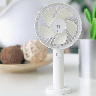 簡.風扇 透明手持風扇 桌扇 桌面/手持兩用 USB充電