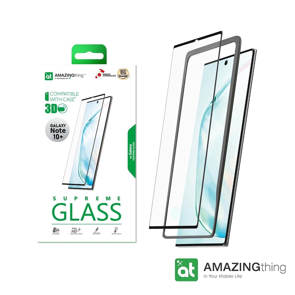 AMAZINGthing 三星 Galaxy Note 10 Plus 滿版強化玻璃保護貼