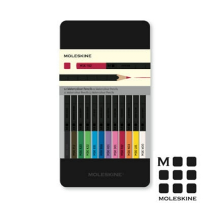MOLESKINE水彩色鉛筆組-12色