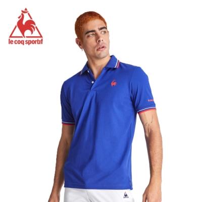 le coq sportif 法國公雞牌左胸公雞印花短袖POLO衫 男-寶藍