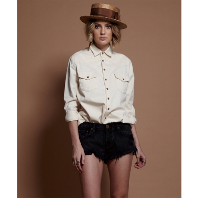 ONETEASPOON WAIST DENIM SHORT 牛仔短褲-(女)