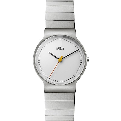 BRAUN德國百靈 極簡超薄設計 石英不鏽鋼錶 –白色/32mm