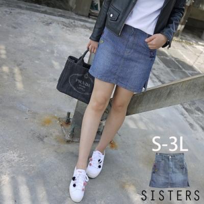 電繡造型連褲裙短裙(S-3L) SISTERS