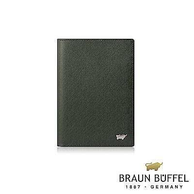 BRAUN BUFFEL -HOMME-M系列3卡護照夾 - 墨綠