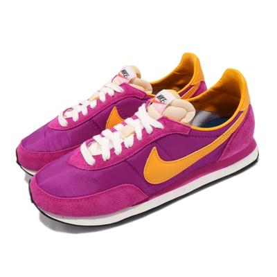 Nike 休閒鞋 Waffle Trainer 2 男女鞋 基本款 復古 簡約 麂皮 情侶穿搭 粉 橘黃 DB3004600