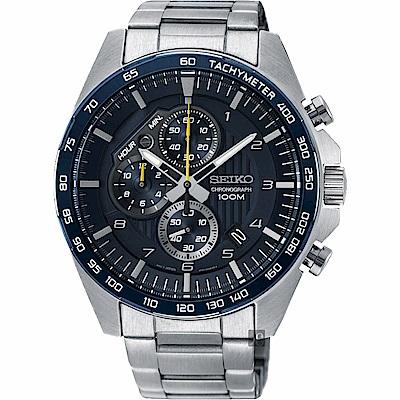 SEIKO精工 CS 重裝計時手錶(SSB321P1)-藍x銀/44mm