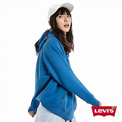 Levis 帽T 女裝 純藍