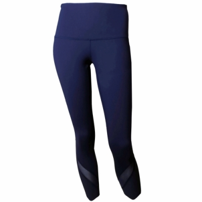 【lululemon】Wunder Under HR Crop Sclp高腰瑜珈運動褲/深藍(LW6BANS TRNV)