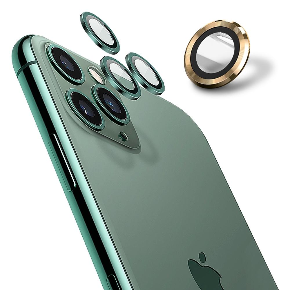 【Ayss】康寧鏡頭保護貼 iPhone 12 Pro/9H硬度/金屬邊框/鏡頭全包覆式/AR光學玻璃/疏水疏油-3入-金