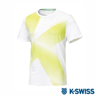 K-SWISS T-Shirt 韓版短袖T恤-男-白