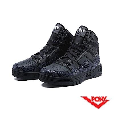 【PONY】M100系列-復古籃球鞋款-女-黑